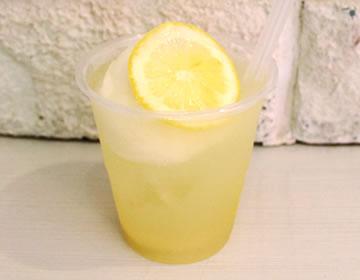 ノーワックスレモンを使用。特製シロップで作った『レモネード』はじめました!